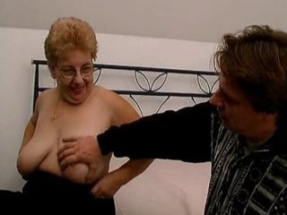 chunky old mom with large tits likes engulfing