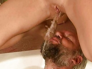 grandpapa and hotty pissing and fucking