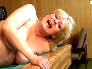 naughty blond older wife acquires her fur pie