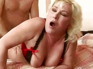 corpulent grandma acquires her vagina rammed