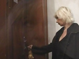 blonde granny allows him drill her cunt
