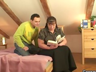 fat bookworm bitch acquires pounded by sexually