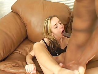 interracial ramrod sucking &; foot job