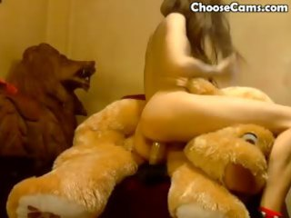d like to fuck enjoys riding her dildo