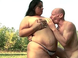 fatty honey wants to fuck granpa with his giant