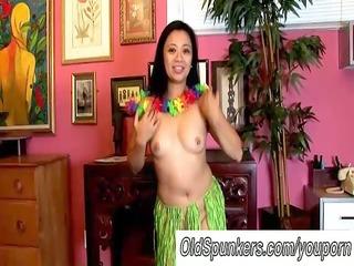 hot milfs hawaiian hula dance and squirting vagina