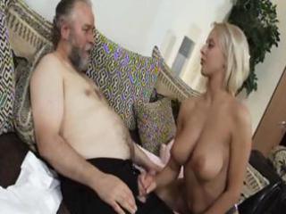 aged blonde mandy dee bounces her big pantoons as