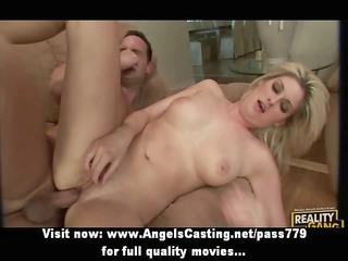 cute golden-haired fucked hard from behind and