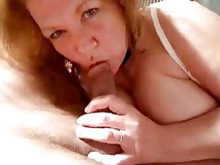 hawt granny sukcs cock and cum