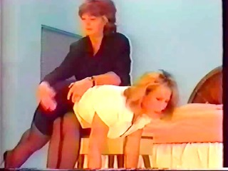 shapely bottom gets a vintage drubbing