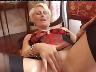 pierced granny in darksome fully fashioned nylons
