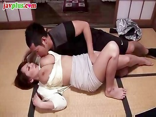 breasty oriental playgirl sucks his cock and then