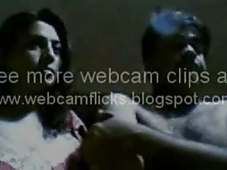 indian wife playing on web camera