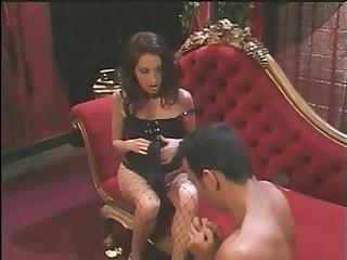 hot brunette hair goddess foot bonks guy&s
