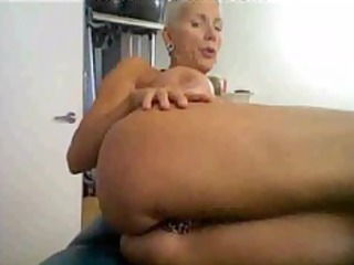 slutty older on cam, with many rings on her
