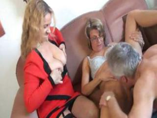 older german sex therapist makes a abode call and