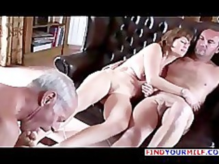 old cuckold take up with the tongue one as well