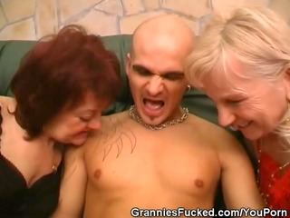 horny aged women share a dick