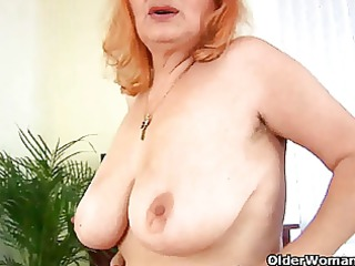 breasty granny t live without toying her old and
