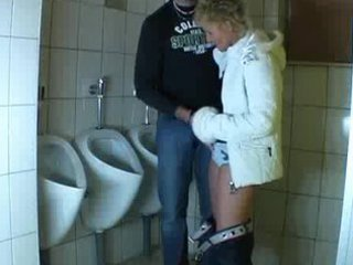 chap copulates a aged in a public bathroom