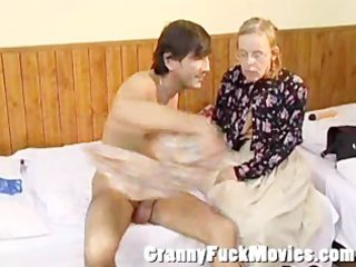 granny betsy giving jos a valuable blowjob